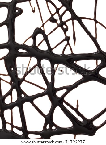net made of chocolate syrup - stock photo