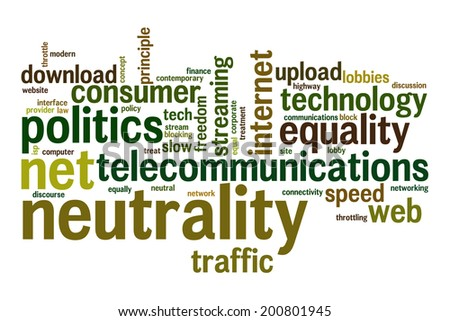 Net neutrality concept word cloud background