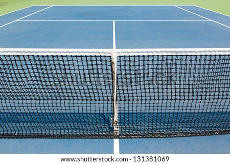 Net of tennis court