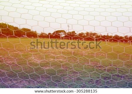 Net of the football field - stock photo