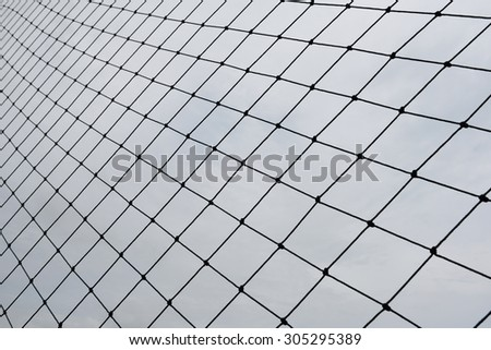 Net of the football field,Black and white - stock photo