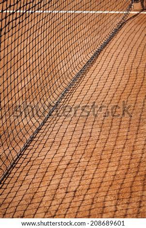 net, tennis court - stock photo