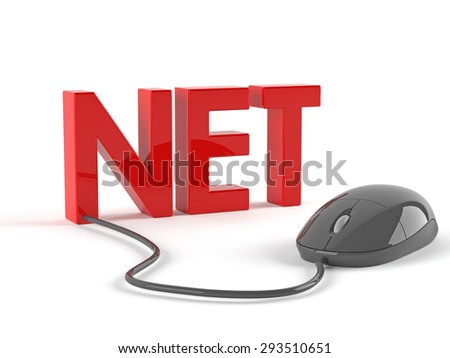 Net with mouse - stock photo