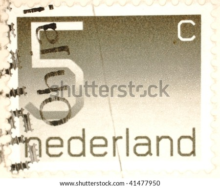 "NETHERLANDS - CIRCA 1990: A stamp printed in the Netherlands shows ""5 cent"", series, circa 1990"