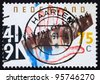 NETHERLANDS - CIRCA 1991: a stamp printed in the Netherlands shows General Strike against anti-Jewish Measures of the Nazis, 50th Anniversary, circa 1991 - stock photo