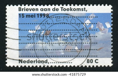 NETHERLANDS - CIRCA 1998: Letter Writing Day, circa 1998.
