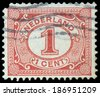 NETHERLANDS - CIRCA 1898: Netherlands Stamp Numeral 1 Cent, circa 1898  - stock