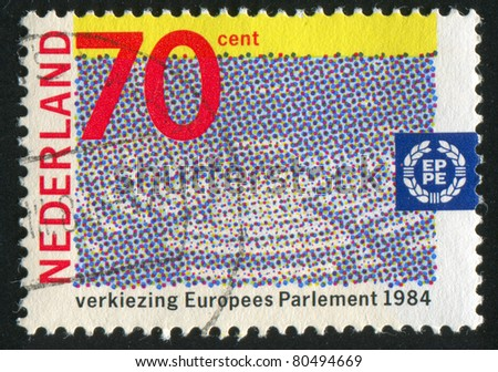 NETHERLANDS - CIRCA 1984: stamp printed by Netherlands, shows 2nd European Parliament Election, circa 1984
