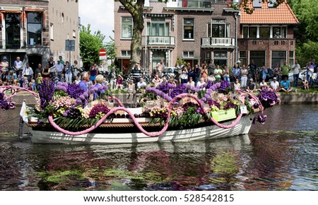 Netherlands,Delft,-june 2016, many visitors during the Vegetables Parade