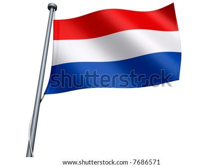 Netherlands Flag - stock photo