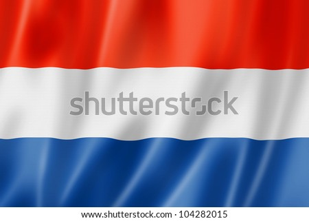Netherlands flag, three dimensional render, satin texture - stock photo