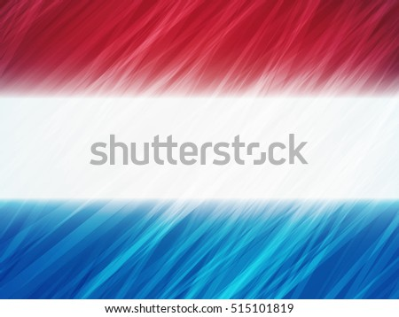 Netherlands flag with stripes brush strokes