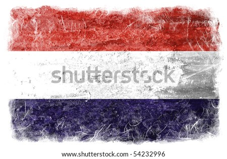 Netherlands grunge flag - stock photo