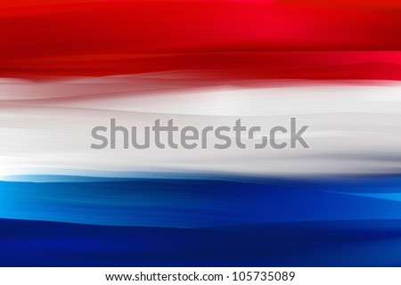 Netherlands hand painted national flag - stock photo