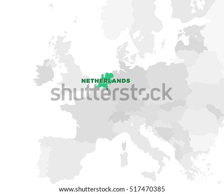 Belgium location modern detailed map all vectores en stock 438238621 netherlands location modern detailed map all european countries without names template of beautiful flat gumiabroncs Images