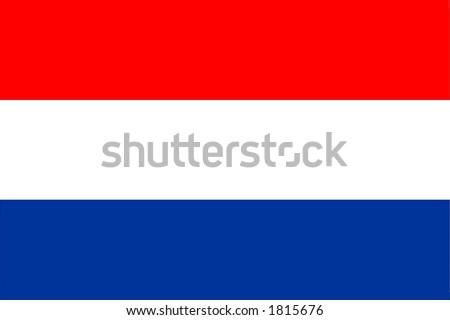 Netherlands national flag, Amsterdam, Europe - stock photo