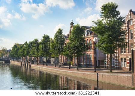 Netherlands real estate Amsterdam - stock photo