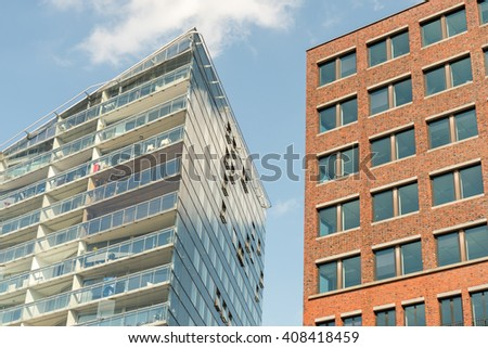 NETHERLANDS - ROTTERDAM - MEDIO APRIL 2016: Detail of a modern architecture. - stock photo