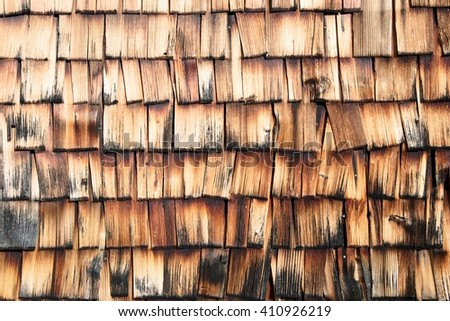 Netherlands traditional wooden tiled house wall
