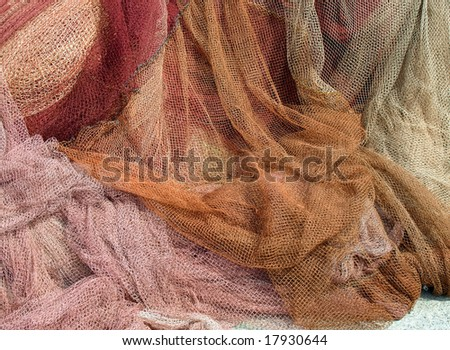 Nets for fishing - stock photo