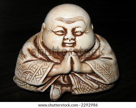 Netsuke. Mascot. Antiquarian figure. Amulet. - stock photo