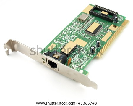 Network adapter on white background - stock photo