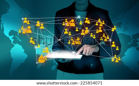 Network and communication - stock photo