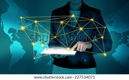Network and communication  concept - stock photo