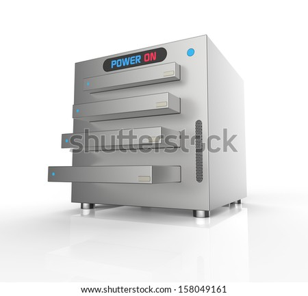 Network attached storage, with four hard drives