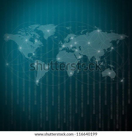 Network Background - stock photo