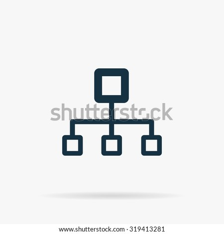 computer network icon stock vector 407544220 shutterstock network block diagram flat web icon or sign on grey background shadow collection