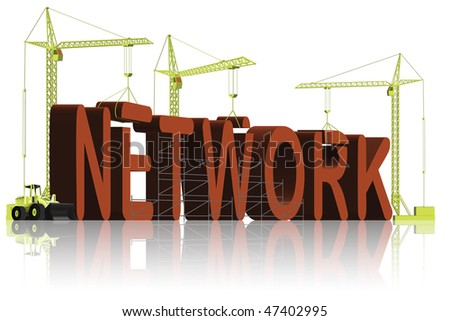 network building social business or global - stock photo