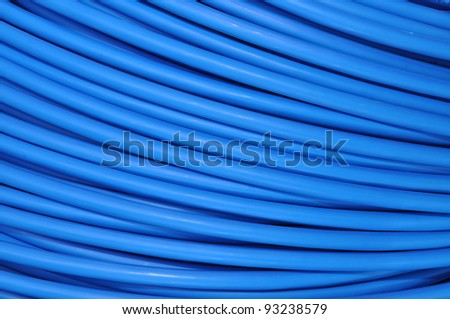 Network cable for data communication systems - stock photo