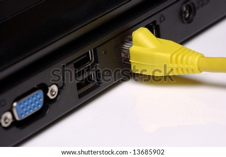 Network cable in laptop