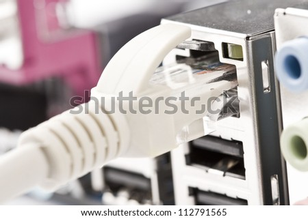 Network cable is connected to the computer