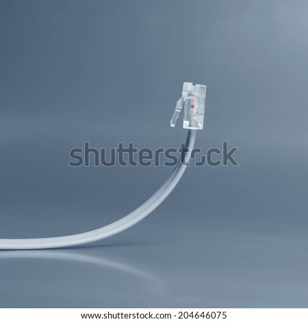 Network cable isolated on grey background