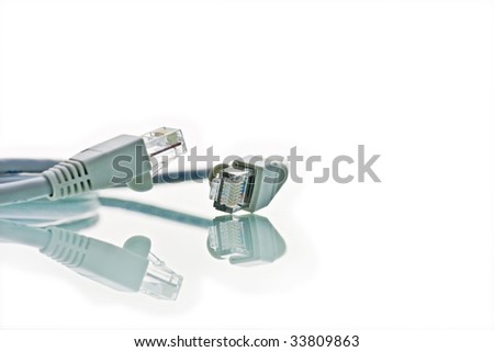 network cables on white background