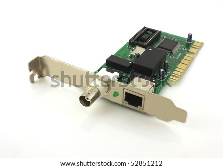 Network card for computer - stock photo
