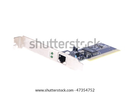 Network card isolated on white background - stock photo