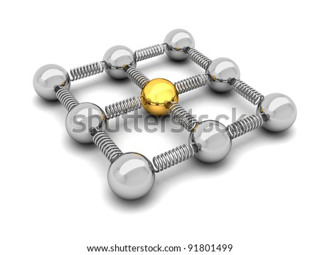 Network - concept illustration - stock photo