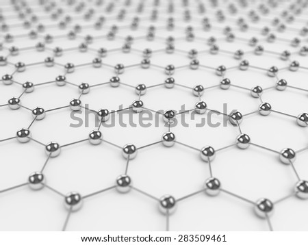 Network connection background - 3D rendered hexagonstructure - stock photo