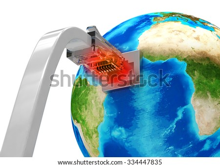 network connection concept - stock photo