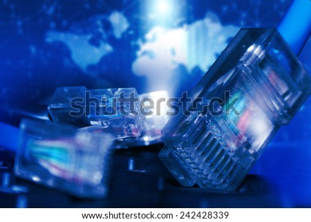 Network connection concept, global technology 	 - stock photo