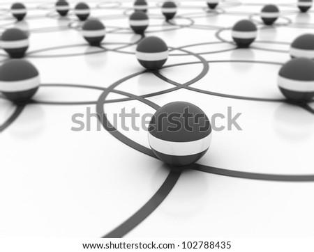 Network 3d illustration - stock photo