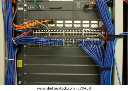 Network Device - stock photo