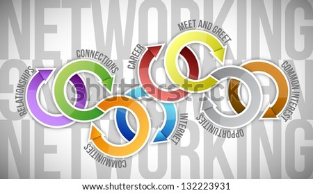 Network Diagram illustration design over a white background - stock photo