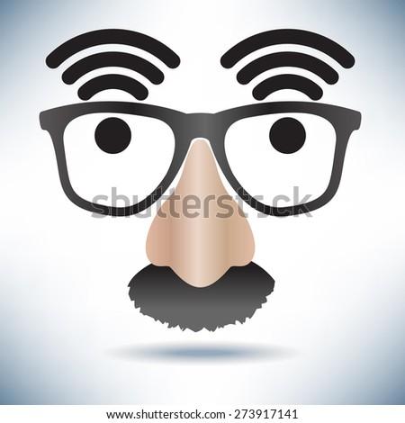 Network Hot Spot Icon Face - stock photo