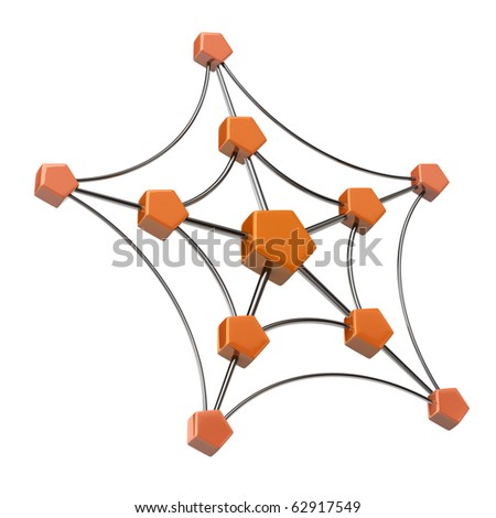 Network icon - stock photo