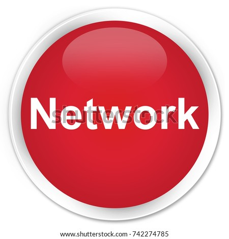 Network isolated on premium red round button abstract illustration