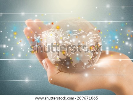 Network, networking, world. - stock photo